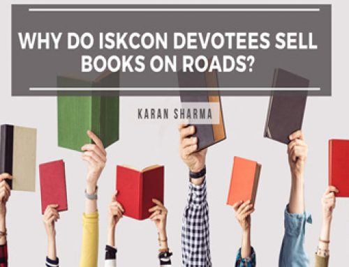 Why do ISKCON devotees sell books on roads?