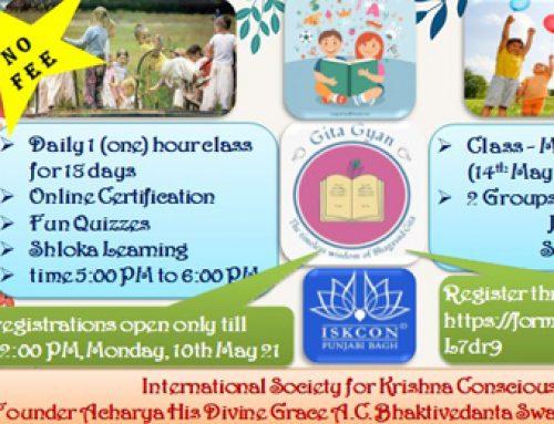 Sunday School Gita Program