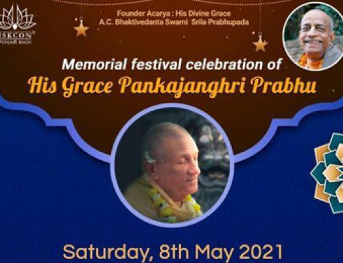 Virah Mohotsav of HG Pankajanghri Prabhu (8 May 2021)